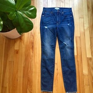 """Madewell 10"""" high-rise skinny distressed jeans"""